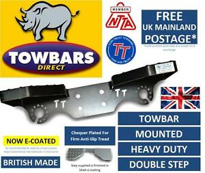 Towbar-Mounted-Step-Compact-Heavy-Duty-Tow-Bar-Towstep-Double-Sided-4-Bolt