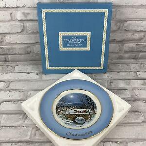 Avon Christmas Plate 1979 Dashing Through the Snow Wedgwood 7th Edition