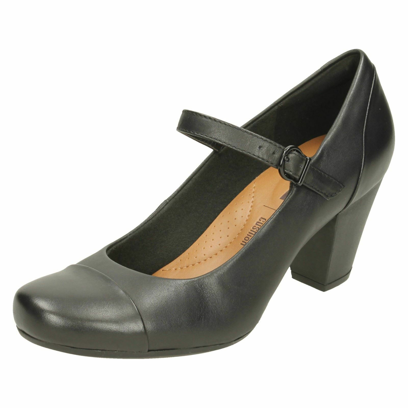 Mujer Ajuste D garnit Tianna Zapatos De Salón Cuero De CLARKS