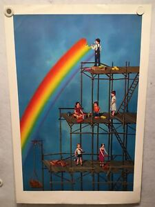 034-Building-a-Rainbow-034-Tito-Salomoni-1979-Art-Print-Poster-22-x-34