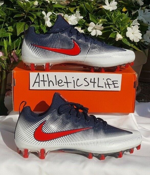a1da4ba19 NIKE VAPOR UNTOUCHABLE PRO FOOTBALL CLEATS SIZE 12.5 NAVY WHITE RED  839924-113