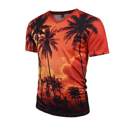 Summer Mens 3D Print Casual Short Sleeve Slim Fit T-Shirts Graphic Tee Shirt