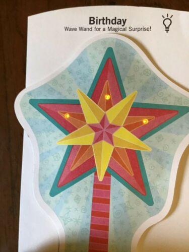 Magic Wand Musical  BIRTHDAY Card for Friend Family Lights Up Sound Hallmark