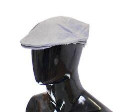 59//L NWT $280 DOLCE /& GABBANA Brown Striped Wool Logo Newsboy Cap Hat Cabbie s