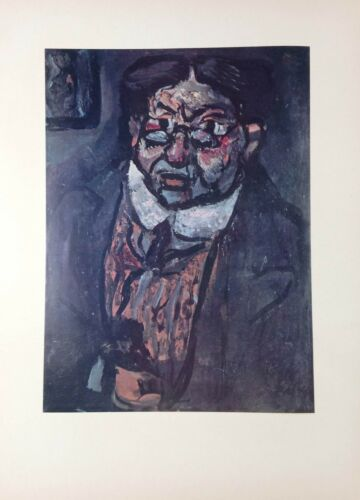 "X/"" GEORGES ROUAULT NOTORIOUS Lithograph 1954 Vintage Full Color Art Plate /""MR"