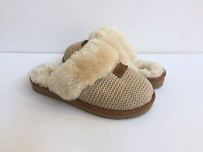 EU 37 NEW Genuine Lambskin Sheepskin Shearling Leather Slippers Women US 5.5-6