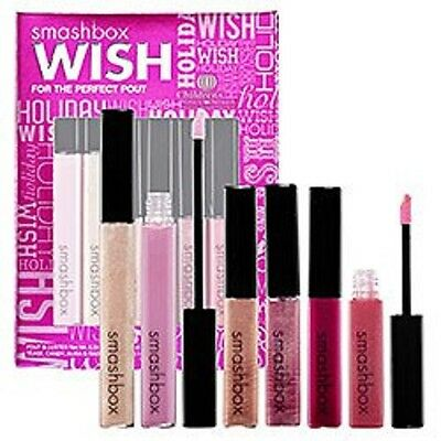 Smashbox Wish For The Perfect Pout 6 LIP GLOSSES Lip Gloss Boxed Set New