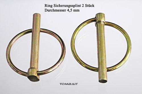 Klappsplinte Ringsplint 4,5mm Ring-Splint Klappstecker b31v
