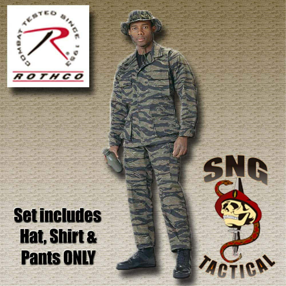 Ultra Force BDU SET  Tiger Stripe Camo Shirt, Pants  & Boonie Hat  sale with high discount