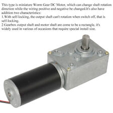 Dc 12v 16rpm High Torque Electric Power Speed Reduce Turbine Worm Gear Box Motor