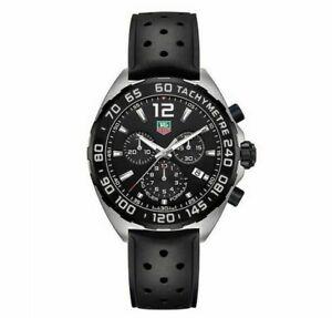 TAG-HEUER-CAZ1010-FT8024-Formula-One-Black-Rubber-Strap-Chronograph-Men-039-s-Watch