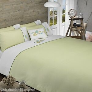 Image Is Loading Driftwood Harbour Double Duvet Set In Green