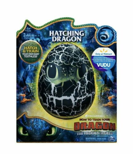 How To Train Your Dragon Hidden World Toothless Hatching Egg Interactive Toy NIB