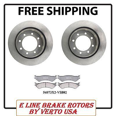 Verto USA Set Of 2 Rear Brake Rotors 53010X2