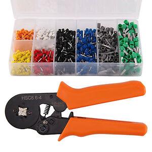 ratchet ferrule crimper plier crimping hand tool connector electrical terminal ebay. Black Bedroom Furniture Sets. Home Design Ideas