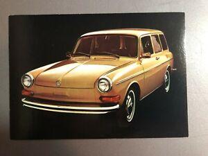 Details about 1973 VW Volkswagen Squareback Sedan Postcard Post Card RARE!!  Awesome L@@K