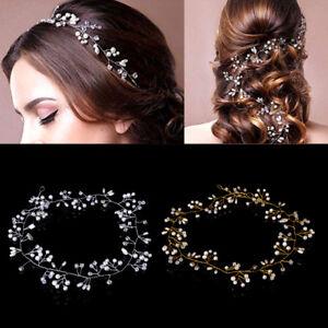 Rhinestone-Faux-Pearl-Headband-Luxury-Wedding-Bridal-Tiara-Hair-Chain-Headpiece