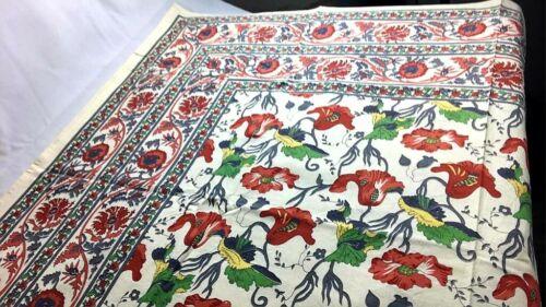 """Vintage Tapisserie Floral Beige Table Chaise jeté de lit 50 X 60/""""//135x155cm"""