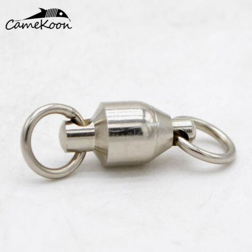 CAMEKOON 20//50//100Pcs Stainless Steel Fishing Rolling Barrel Swivels Connector