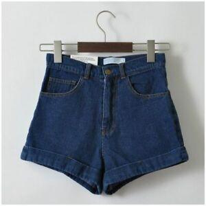 ccf88af6b2d Women Denim Shorts Vintage High Waist Cuffed Jeans Street Wear Sexy ...