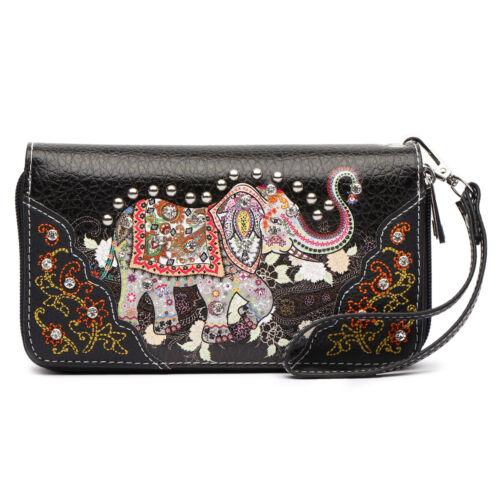 estilo las bolso mujeres del monedero cartera elefante del el bolso del lleva occidental la de El oculto 4wpqffd