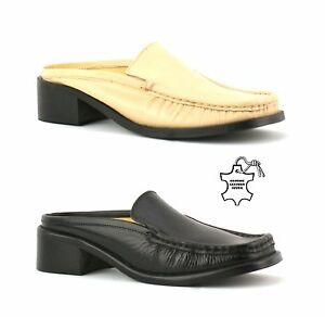 4476083eea8 Image is loading WOMENS-LADIES-BACKLESS-PENNY-LOAFERS-MULES-SLIP-ON-