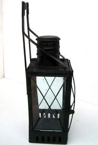 Antique-Vintage-Russia-Railroad-tetrahedral-CANDLE-Lantern-1948