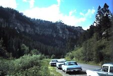 Original 35mm Kodachrome Slide, 1962 - Vintage Cars in the Black Hills, S.Dakota