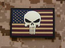 3D PVC US Punisher Glow In Dark Flag Patch GITD Navy SEAL Team 6 DEVGRU DELTA