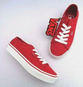 Detalles de Vans Ferris Juventud chicos/chicas (S14) Rojo/Blanco Zapato De Lona UK13 UK3 UK6- ver título original