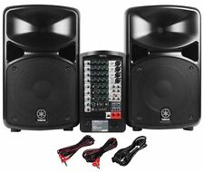 Yamaha STAGEPAS 600i 680-Watt Portable PA System with Speakers & Mixer