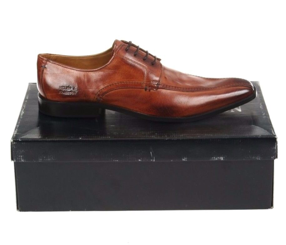 Melvin & Hamilton Mens shoes Alan 1 Crust Tan Sz EU52 UK 16 Debry Leather Brown