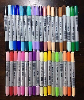 Copic Ciao Markers Set of 37, lightly USED
