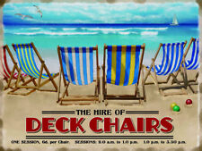 Deck Chairs, Seaside Hire, House/Kitchen, Beach, Small Metal/Tin Sign Picture