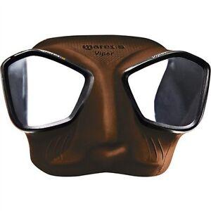 fabrication habile gamme exclusive beau Détails sur Mares Viper Chasse Sous-Marine Plongée en Apnée Masque - Marron  421411