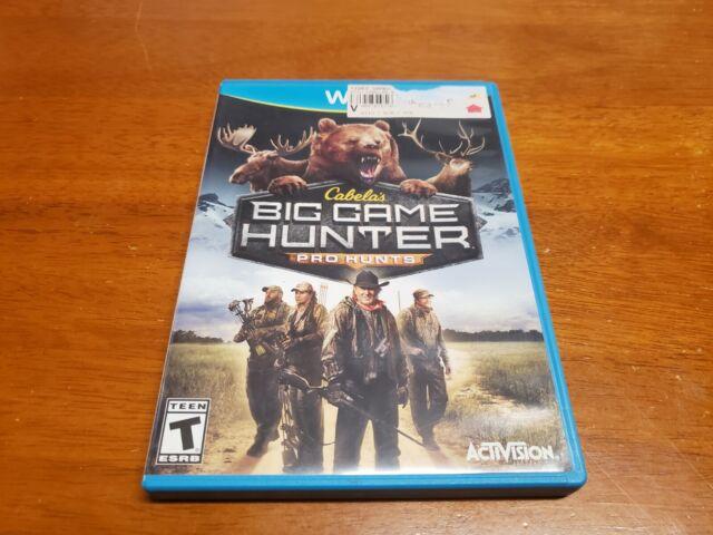 Cabela's Big Game Hunter: Pro Hunts (Nintendo Wii U, 2014) TESTED WiiU Fast Ship