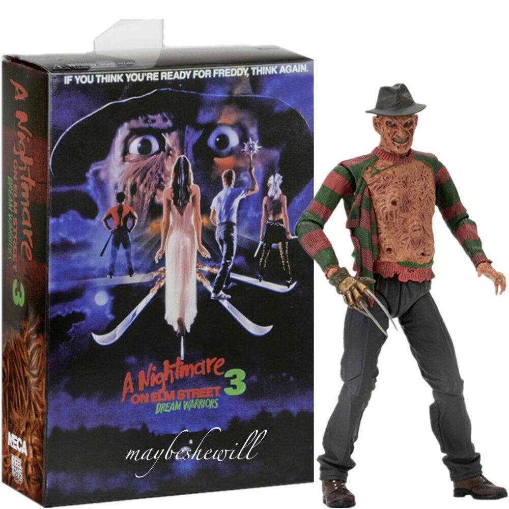 NECA 7  Freddy Krueger A Nightmare On Elm Street 3 Action Figure Model BOX TOY