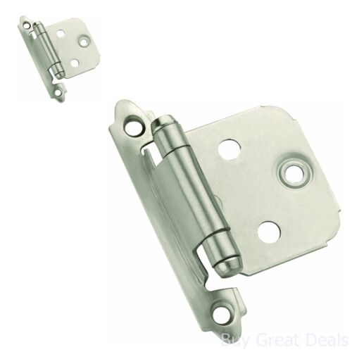 Pack 10 Amerock Kitchen Satin Nickel Face Mount Self Closing Cabinet Hinges New