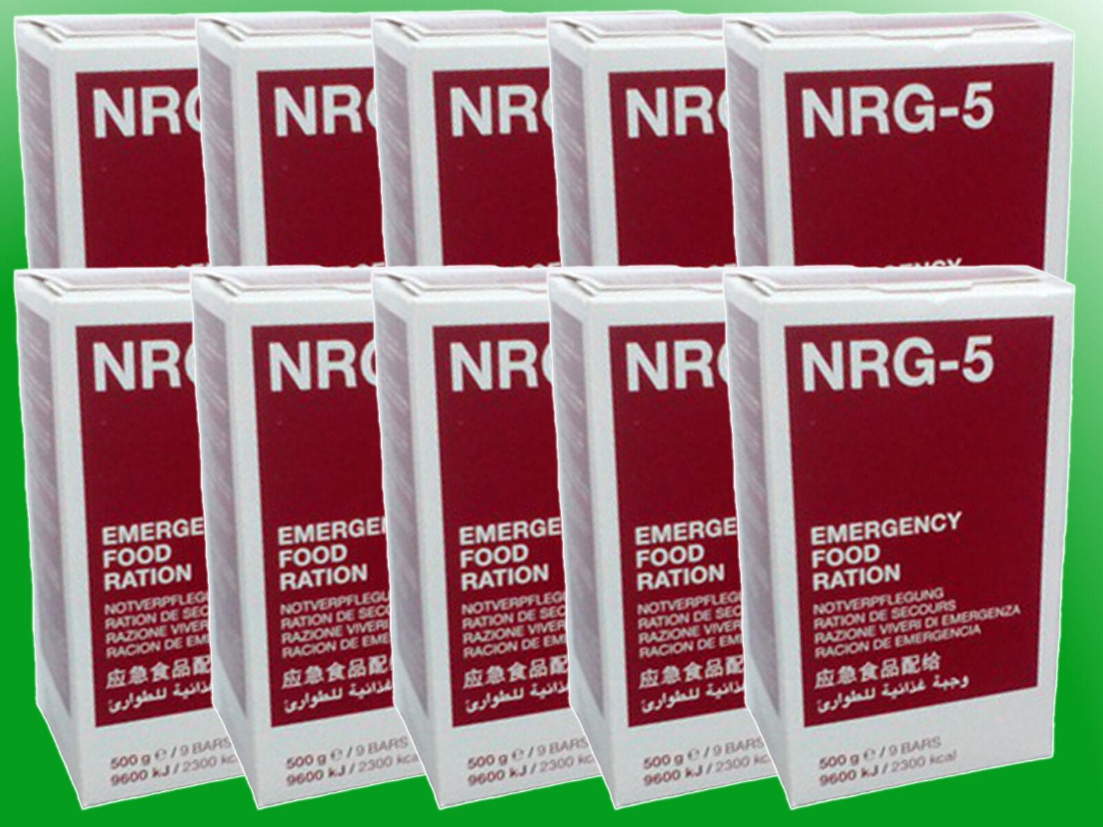 (  kg) 10x500g NRG-5 Notnahrung Notverpflegung Survival Langzeitnahrung