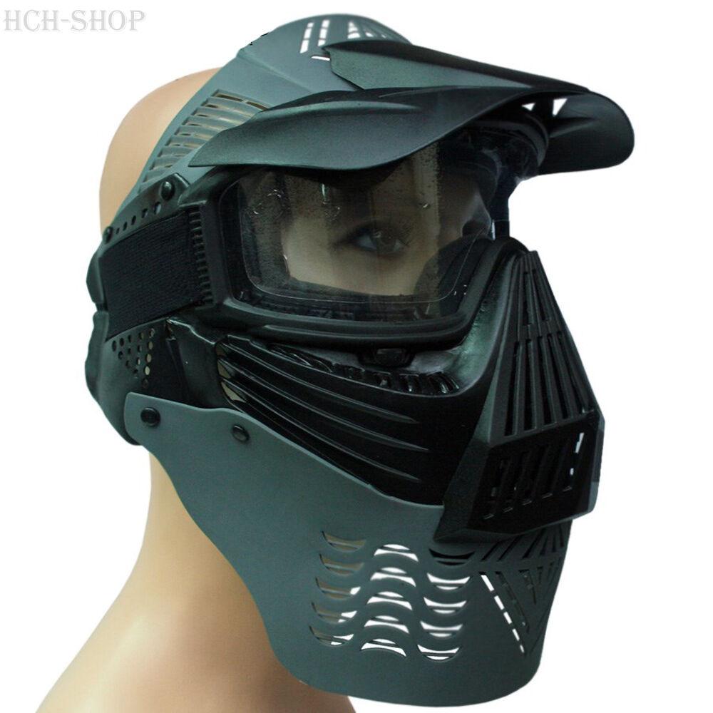 Softair Vollschutzmaske Gesichtsschutzmaske Schutzmaske Paintball Gotcha