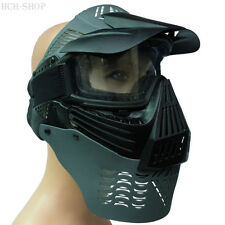 SOFTAIR pieno maschera di protezione Protezione Viso Maschera Protezione Maschera Paintball Gotcha