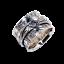 Solid-925-Sterling-Silver-Handmade-Wide-Band-Fidget-Spinner-Ring-Meditation-Ring thumbnail 3