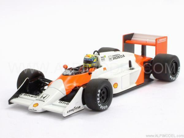 McLaren MP4/3 Honda Test Car 1987 Ayrton Senna 1:43 MINICHAMPS 540874399