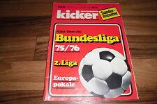 KICKER SONDERHEFT:   BUNDESLIGA  1975/1976  / alle Mannschaften in Farbe