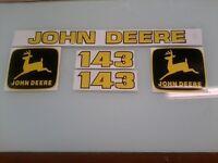 John Deere 143 Loader Decals