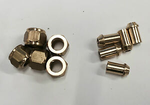 3//16 Pipe Nipples Brass pack of 10 Live steam