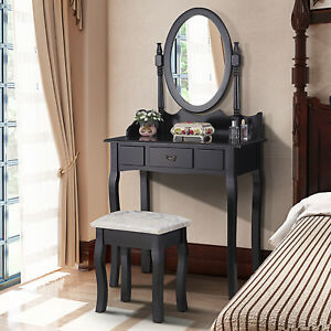 Image Is Loading Black Dressing Table Makeup Desk With Stool And