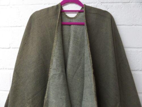 NUOVO Donne Ragazze Plain Stitch bordo Caldo Lana Wrap//scialle//Poncho//Mantello//Cardigan 8-20