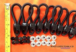 SHOCKCORD UTE LOOPS 70 mm x 10 BLACK INC POSTAGE