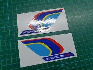 Peugeot-Talbot-Sport-PTS-205-106-309-Mi16-panel-wing-Decals-Stickers